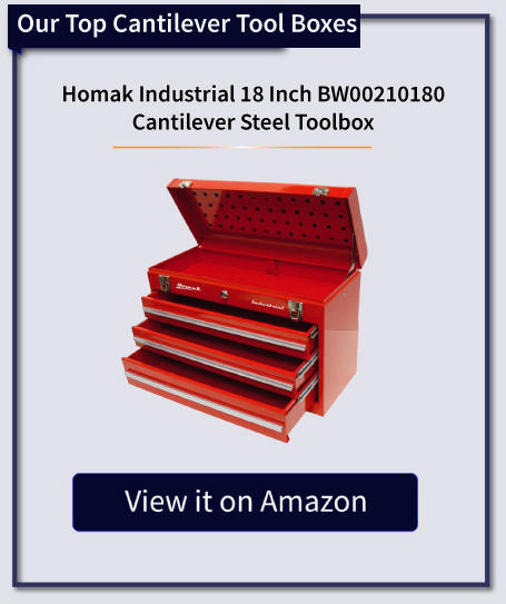Homak Industrial 18 Inch BW00210180 Cantilever Steel Toolbox