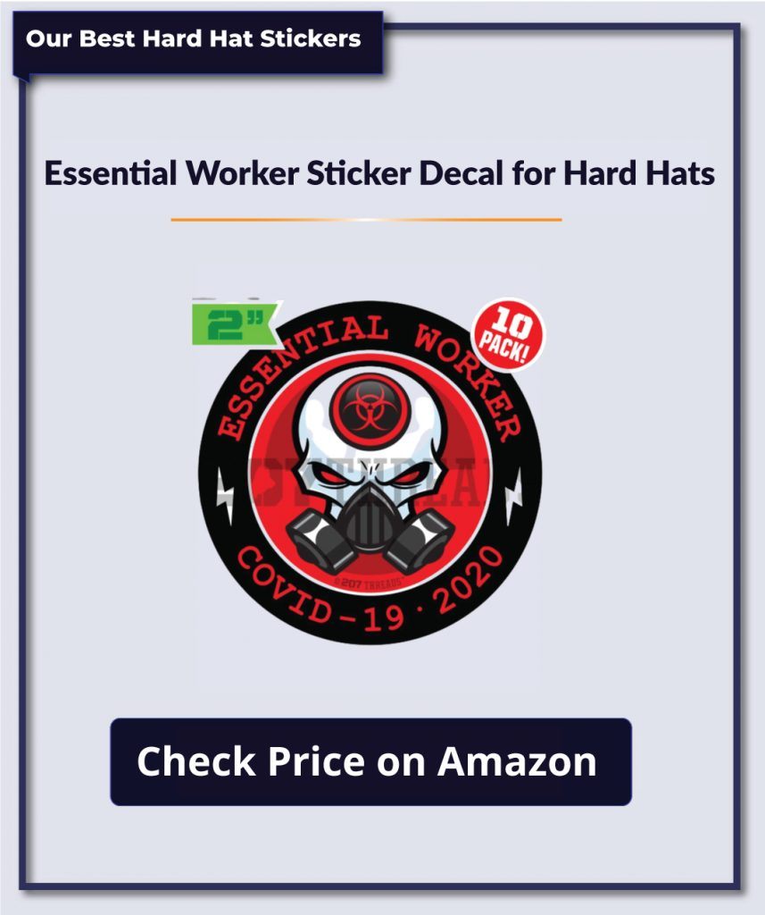 Essential Worker Sticker Decal for Hard Hats